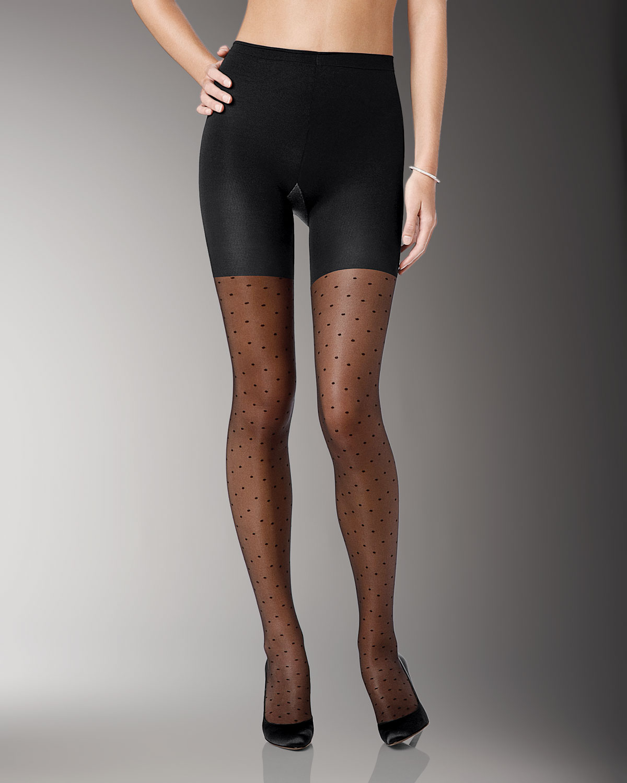spanx-black-swiss-dot-sheer-fashion-pant