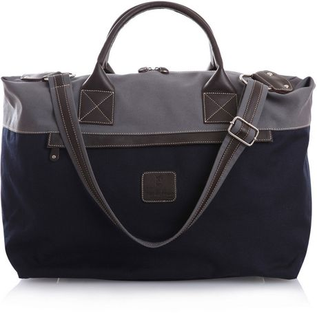 Calabrese Bags Weekend Bag in Blue for Men (navy)