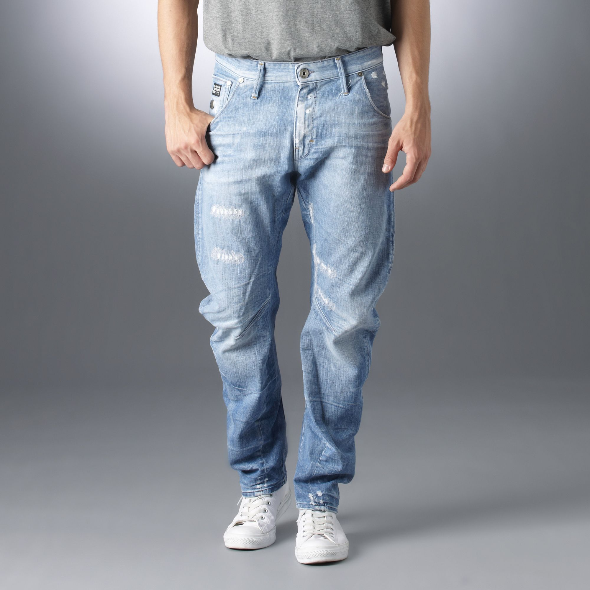 g star raw arc loose tapered nippon jeans in blue for men. Black Bedroom Furniture Sets. Home Design Ideas