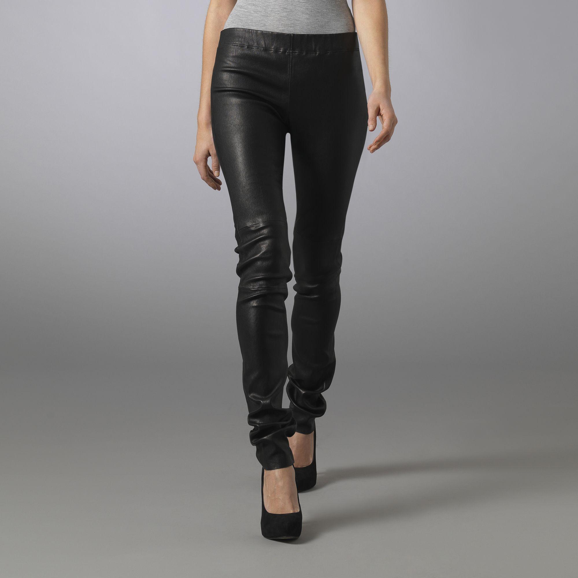 4e35a90a2c05b JOSEPH Leather Legging in Black - Lyst