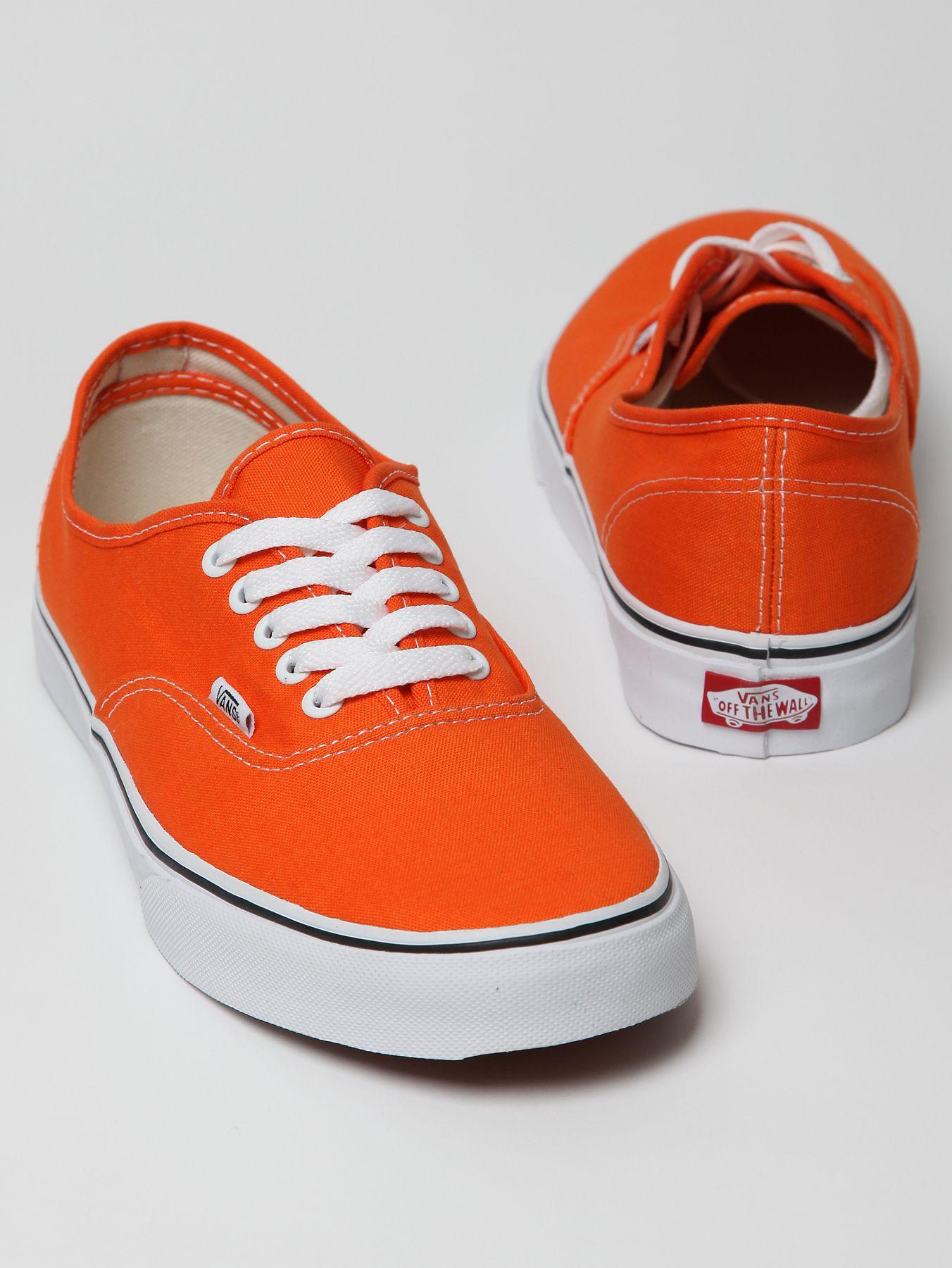 Vans Authentic Primary Trainers in Orange for Men