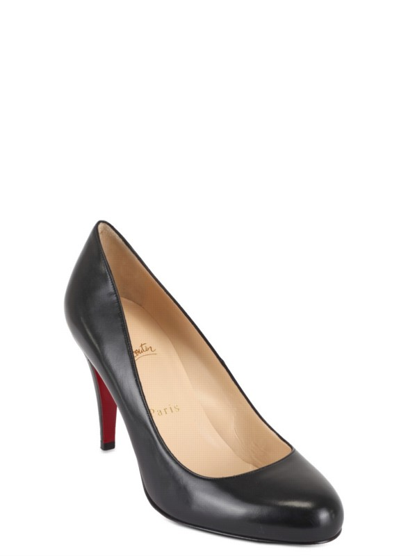 Christian louboutin 85 Ron Ron Kid Pumps in Black | Lyst