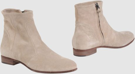 Eligio Garbo Ankle Boots in Beige (sand) - Lyst