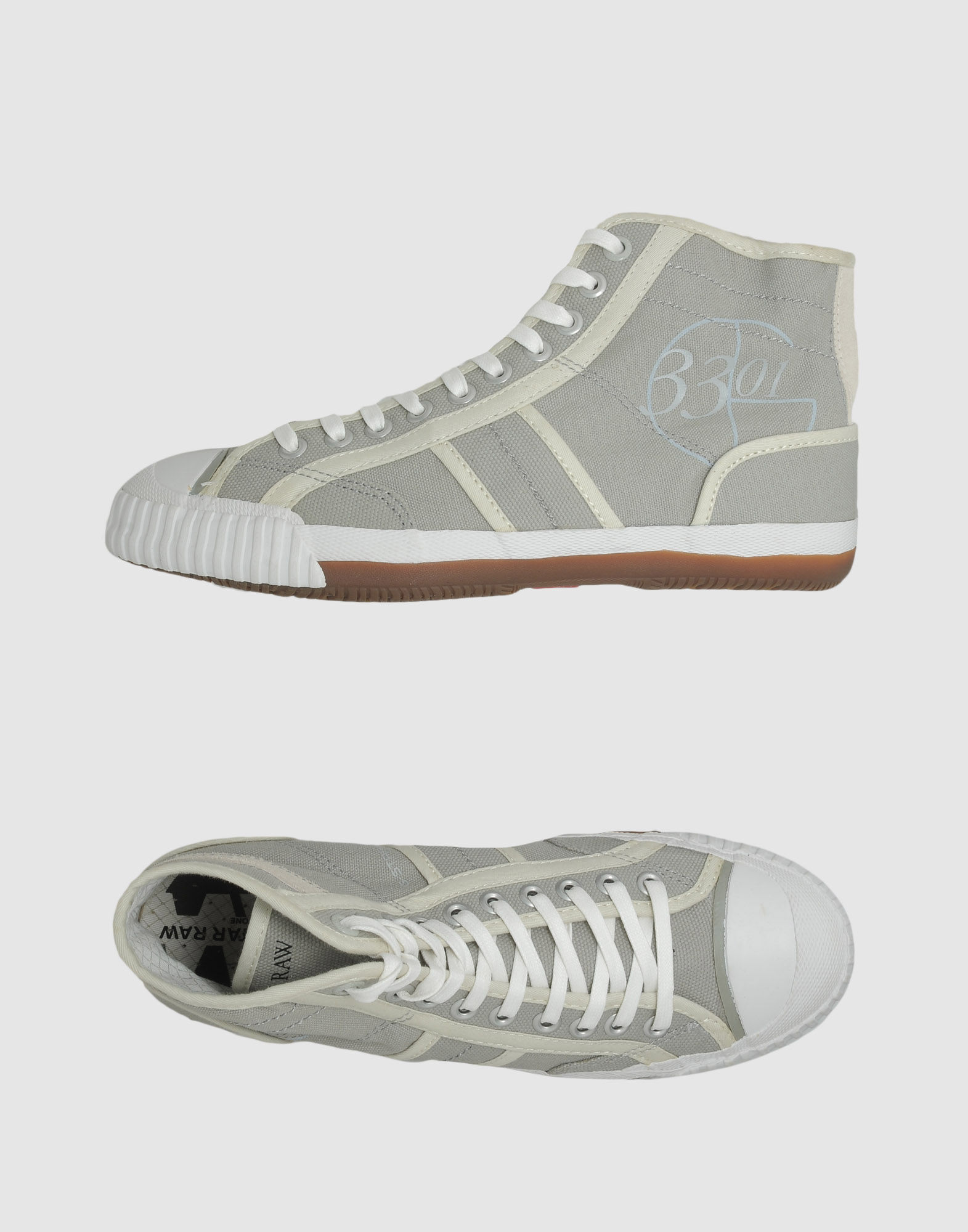 g star raw high top sneaker in gray for men grey lyst. Black Bedroom Furniture Sets. Home Design Ideas