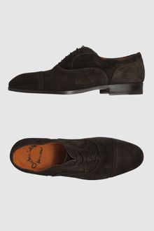 Santoni Laced Shoes - Lyst