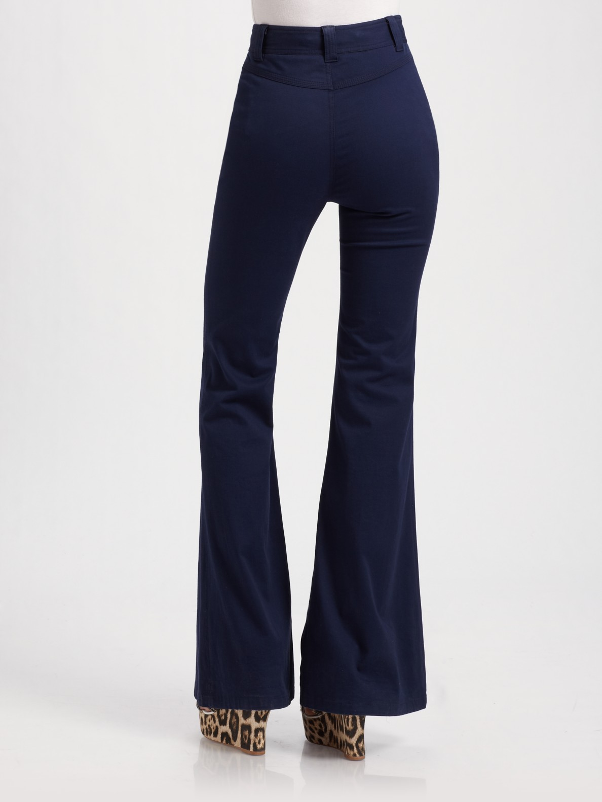 Alice   olivia High-waist Bell Bottom Pants in Blue | Lyst