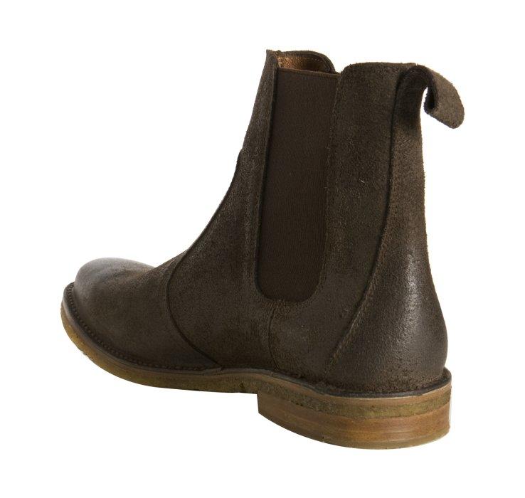 Frye Dark Brown Oiled Suede Marco Crepe Chelsea Boots In