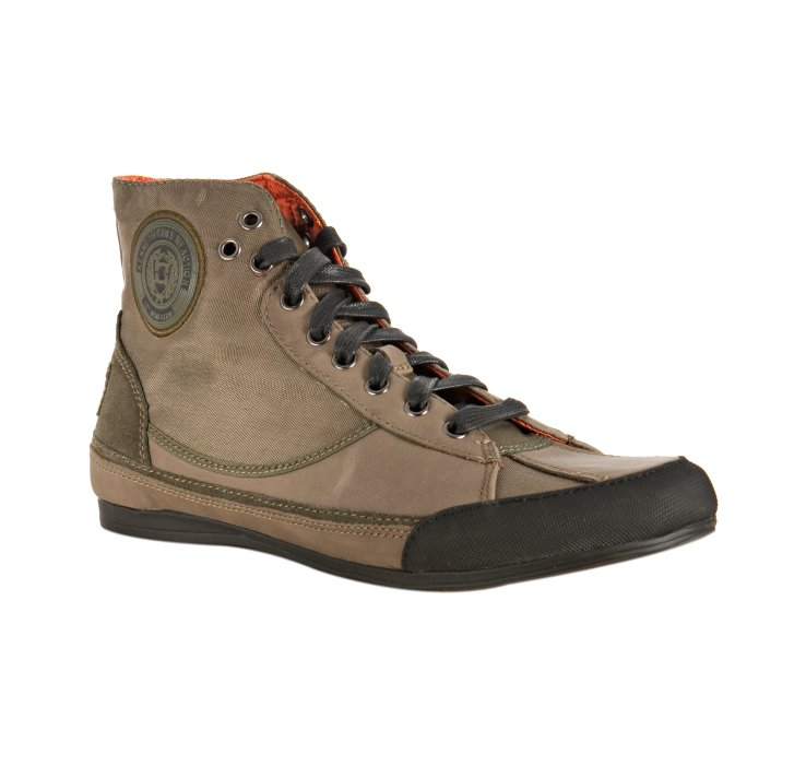 Kenneth Cole Reaction Olive Leather and Nylon Speed Ball Sneakers in ... d7f9950ca