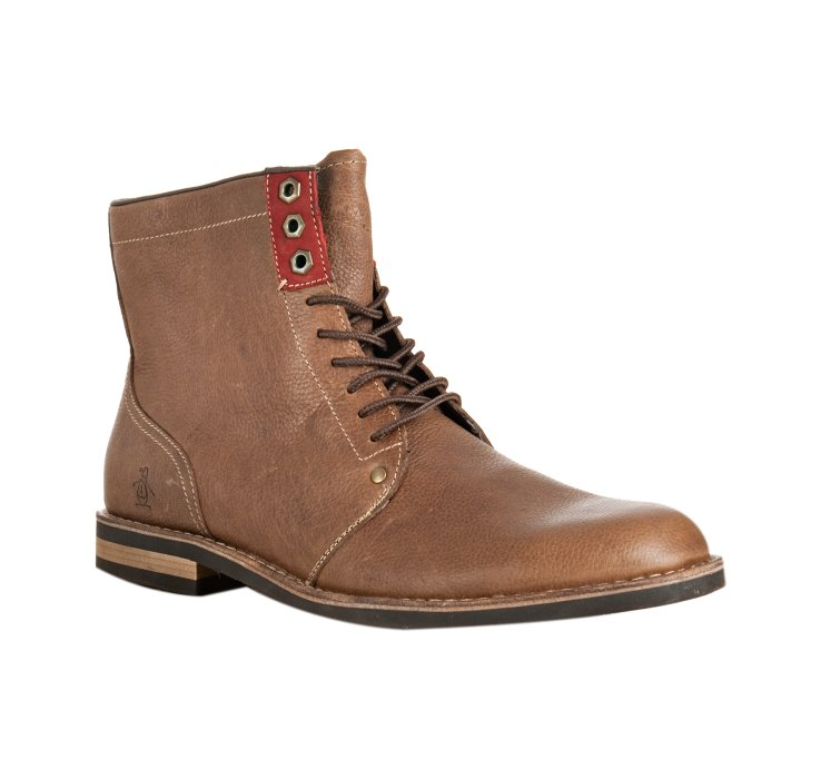 original penguin drago leather jerry jeff lace up boots in