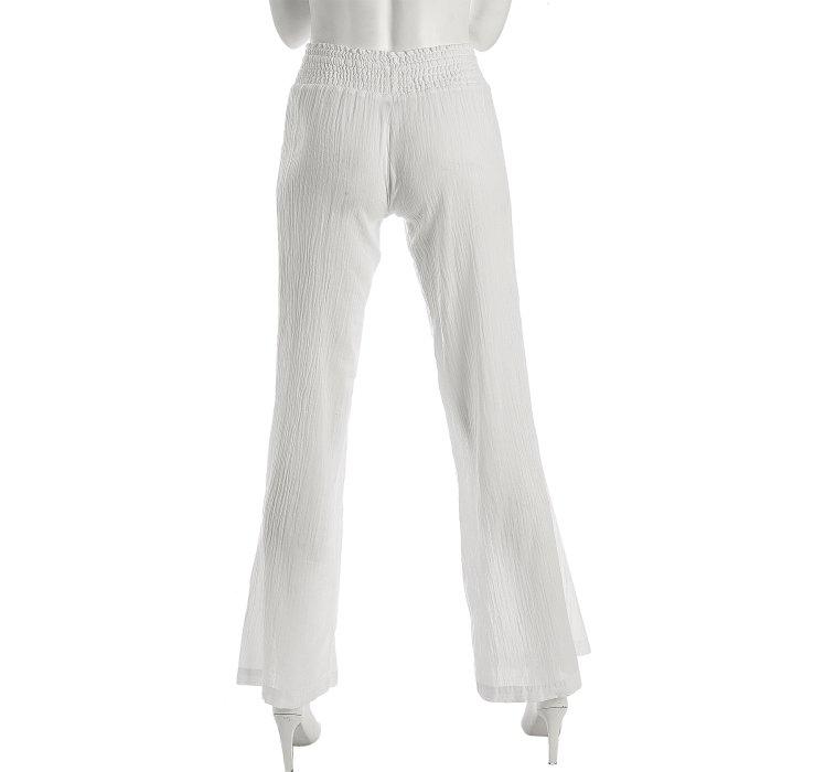 Splendid White Crinkled Cotton Gauze Pants in White | Lyst