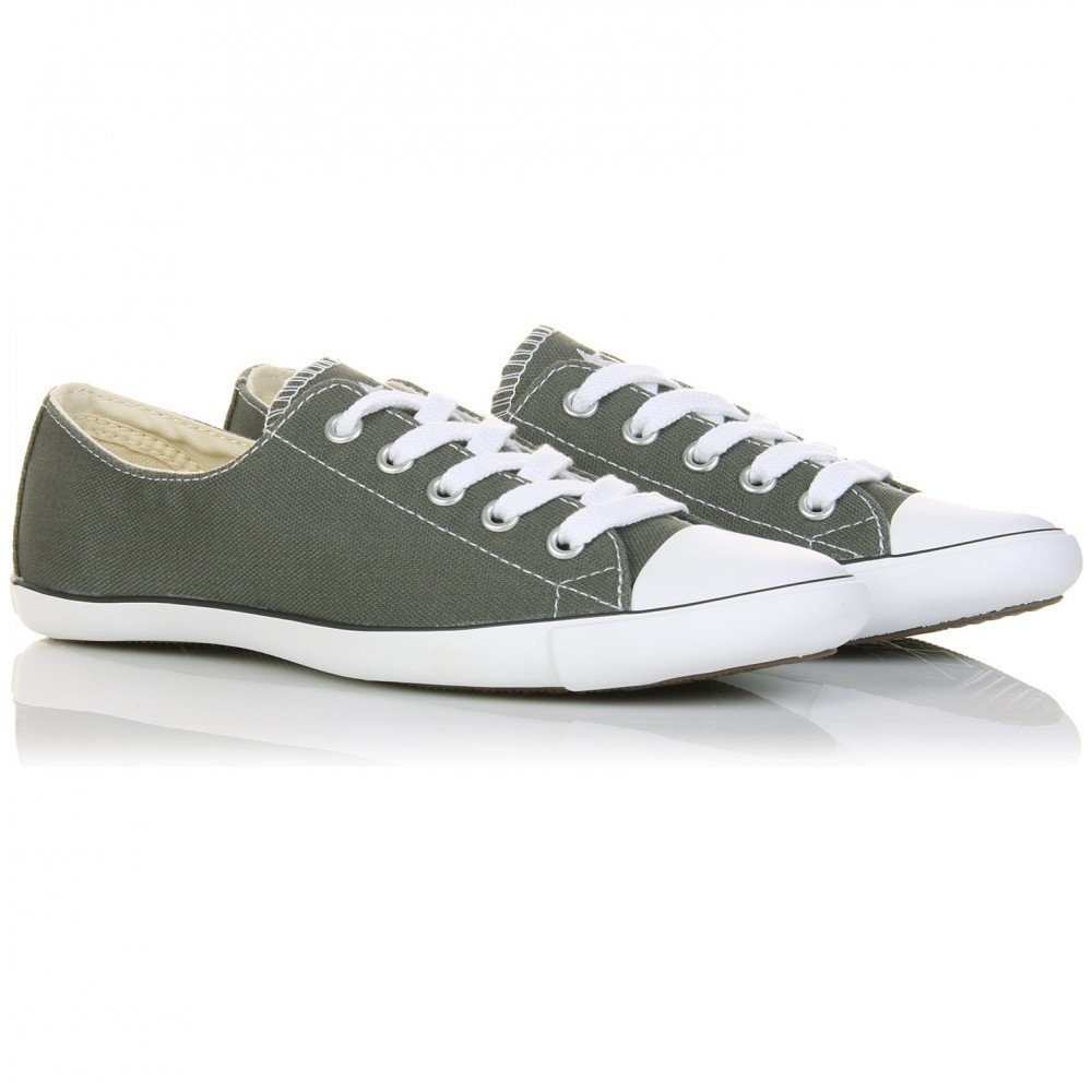 Converse chuck taylor all star light in gray charcoal lyst - Graue converse ...