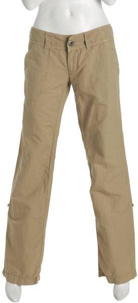 James Perse Wheat Cotton Linen Cuffed Cargo Pants In Beige