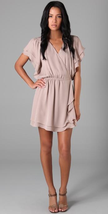 Parker Flowy Wrap Dress in Pink | Lyst