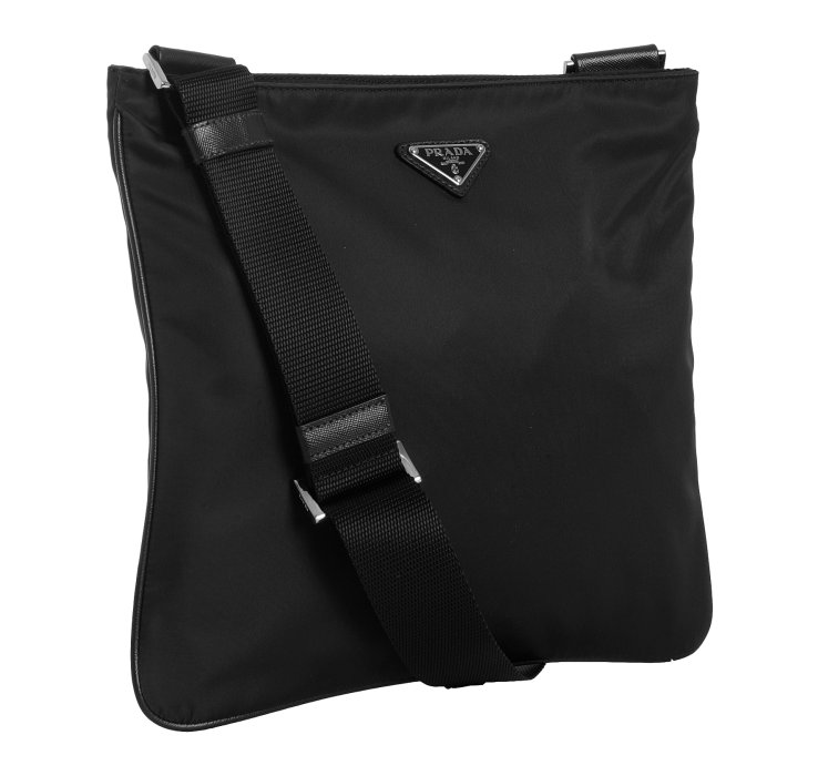 ... uk lyst prada black nylon viaggio messenger bag in black for men b11c6  039de 0c0da5c09dbde