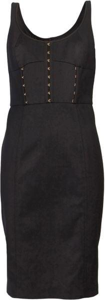 Versace Corset Dress in Black - Lyst