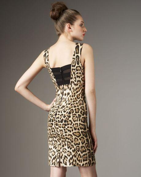 Alice Olivia Nicola Leopard Print Dress In Animal