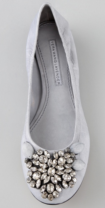 Lyst Vera Wang Lavender Lexi Jeweled Ballet Flats In Gray
