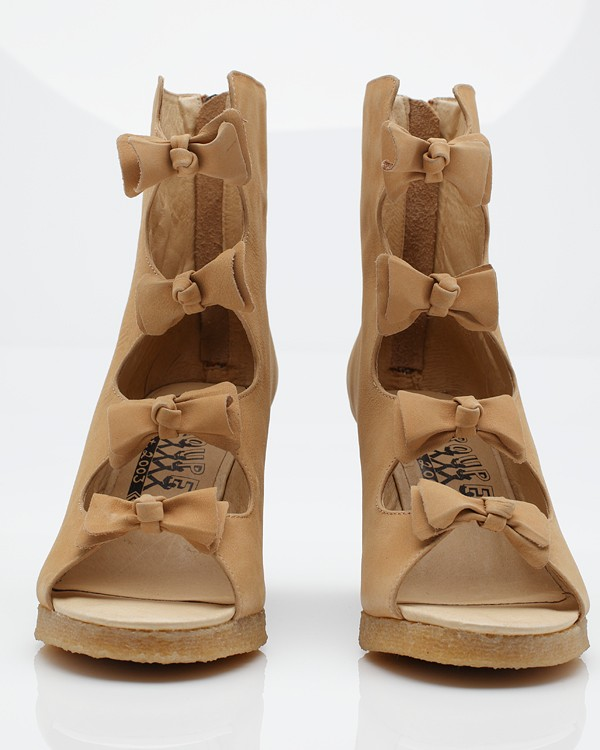 F Troupe Bow Sandal Wedge Boot In Brown Lyst