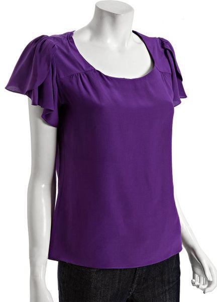 Purple Silk Blouse 42