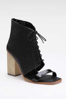 Rachel Comey Open-toe Leather Ankle Boots - Lyst