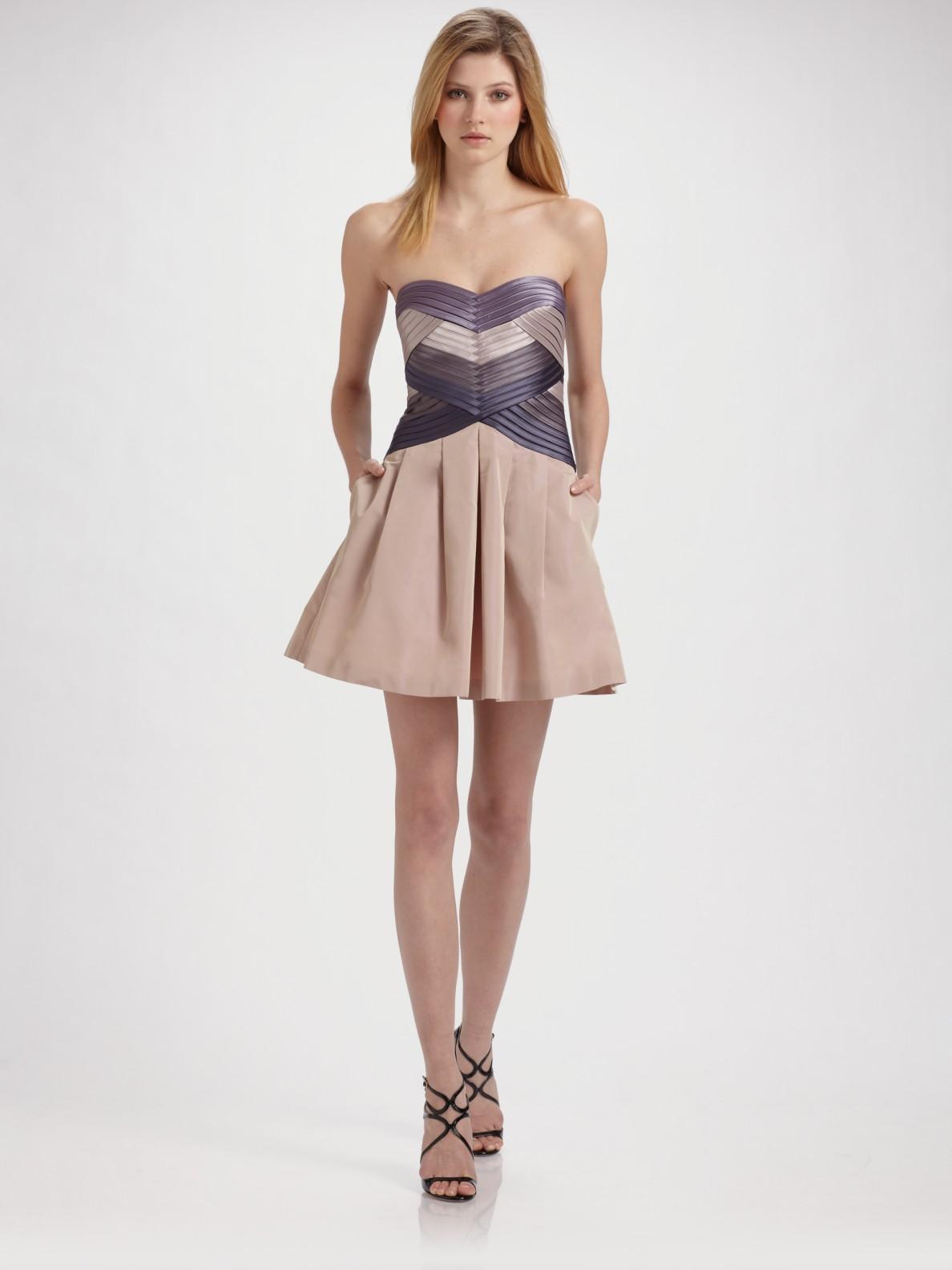 Strapless Beige Dress
