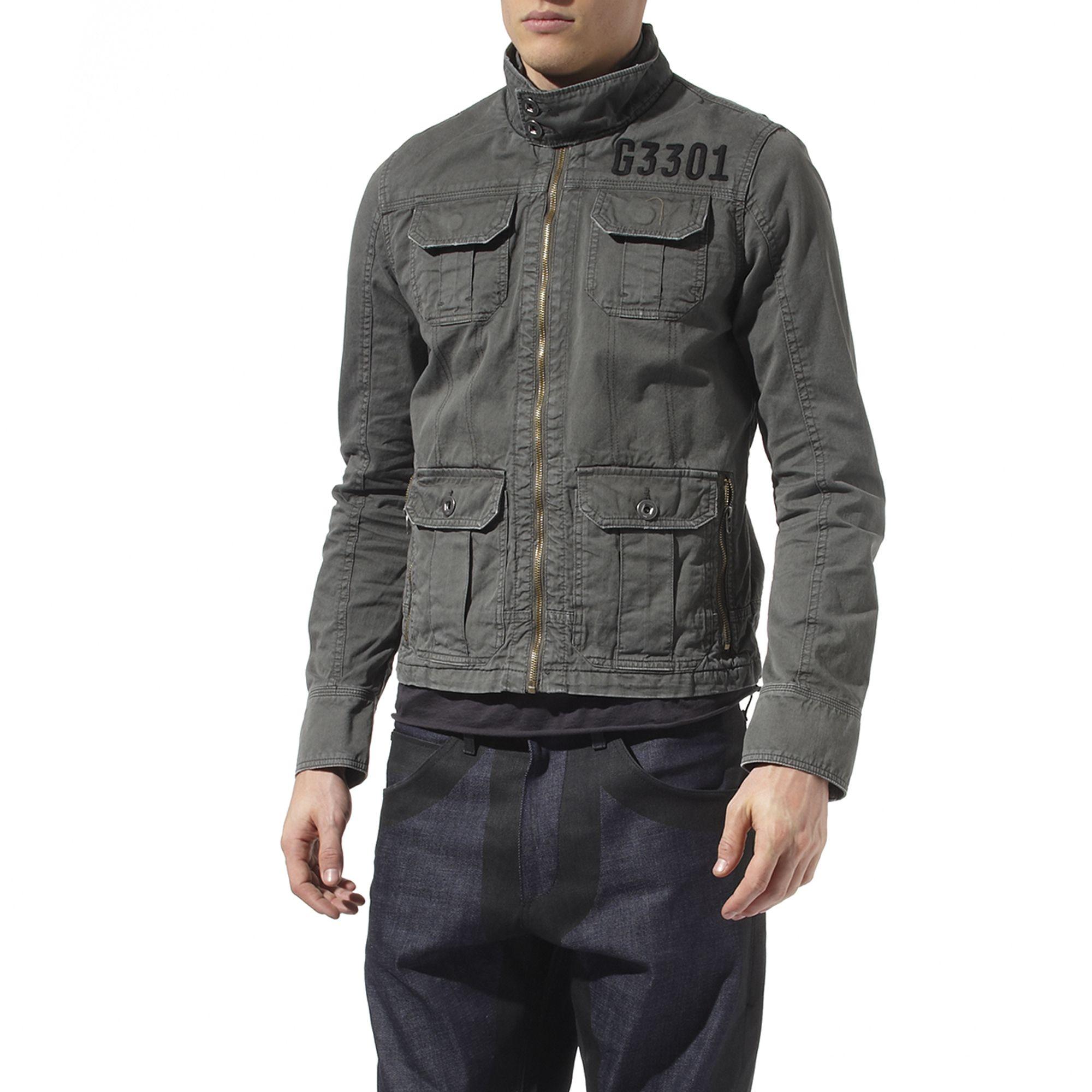 lyst g star raw dryden jacket in gray for men. Black Bedroom Furniture Sets. Home Design Ideas