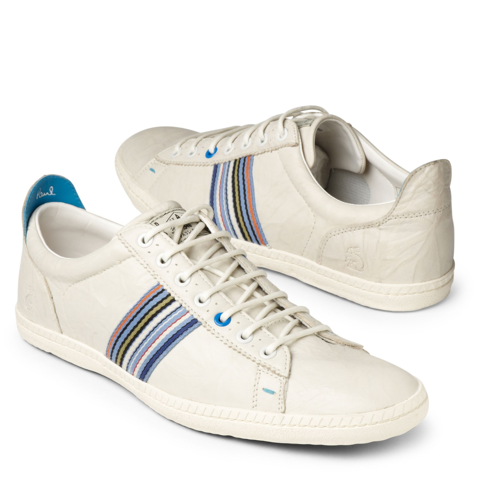 Paul Smith Osmo Leather Trainer In White For Men Lyst
