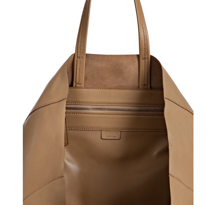 C¨¦line Camel Leather Shopping Tote in Beige (camel) | Lyst