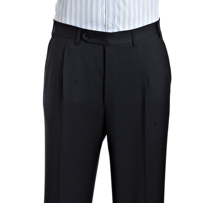 Canali Navy Virgin Wool 2-button Suit with Single-pleat Pants in ...