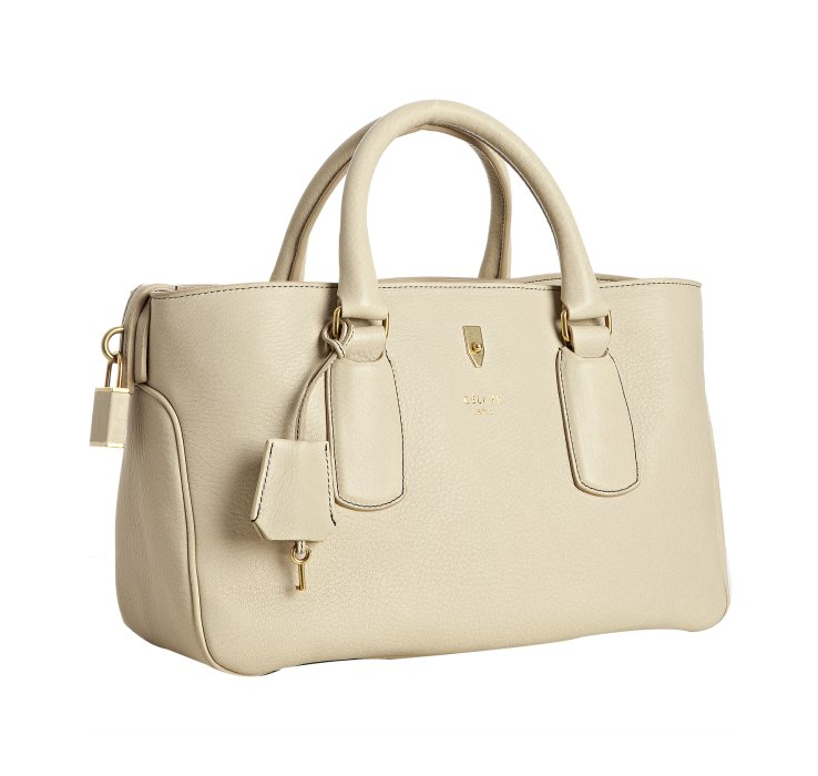 C¨¦line Cream Pebbled Leather Boogie Satchel in Beige (cream) | Lyst