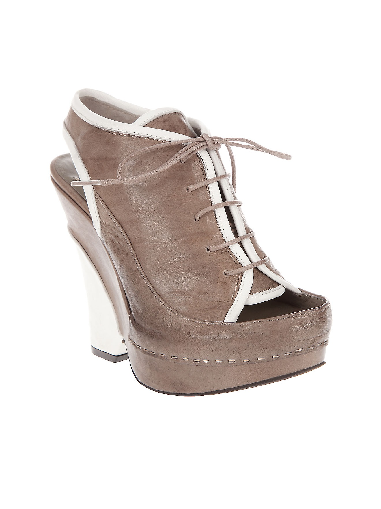 malloni platform wedge shoe in beige grey lyst