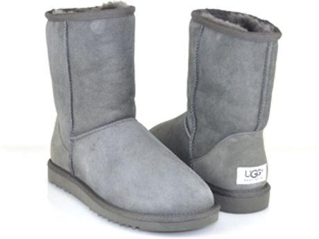 Ugg Classic Short - Grey Sheepskin Boot in Gray (grey)