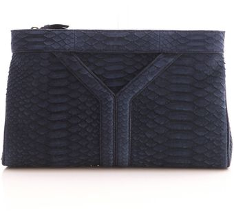 Yves Saint Laurent Python Clutch Bag - Lyst