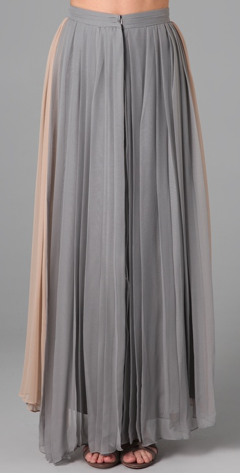 Porter grey Pleated Long Skirt in Gray | Lyst