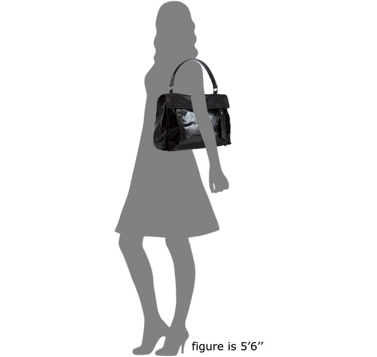Saint laurent Black Calfskin and Python Muse Two Bag in Black | Lyst