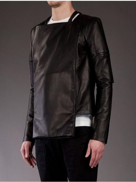 Rad Hourani Mens Rad Hourani Leather Jacket
