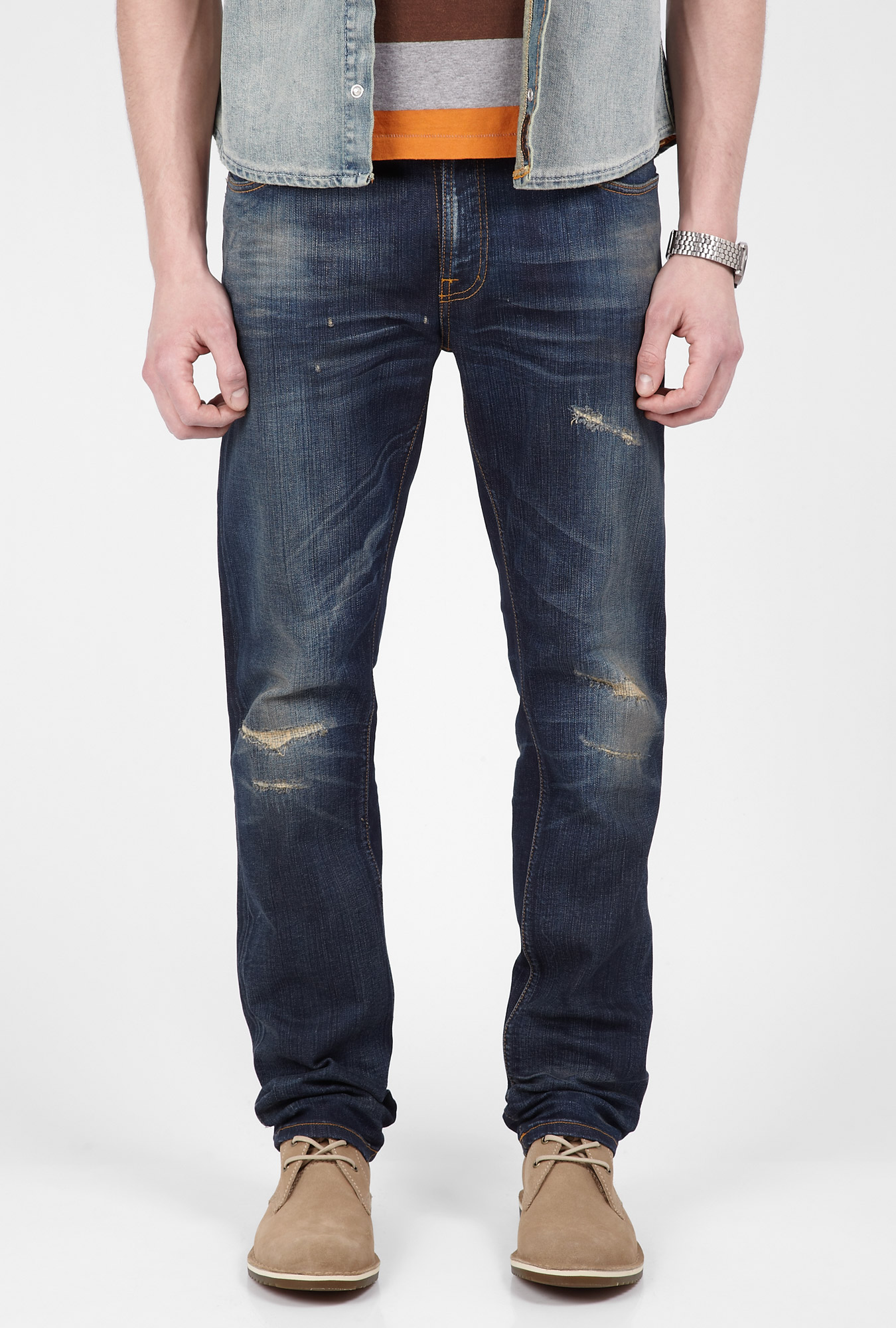 Nudie Jeans Thin Finn Peter Replica Blue In Blue For