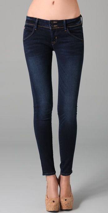 Hudson jeans Collin Flap Pocket Skinny Jeans in Blue | Lyst