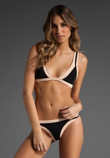 Sass & Bide Fast Forward Bikini in Black/nude in Black