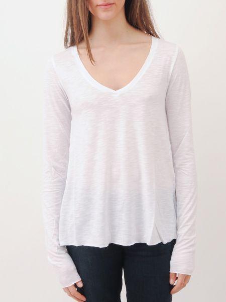 American vintage jacksonville v neck long sleeve tee shirt for Long white v neck t shirt