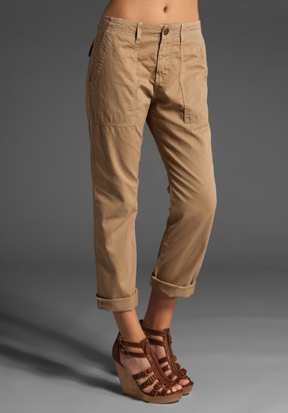 Current/elliott The Army Pant in Brown