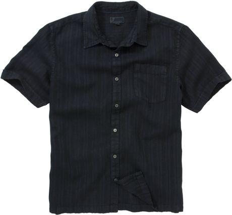 John Lewis Men Textured Linen Shirt Black Ink Navy in ...
