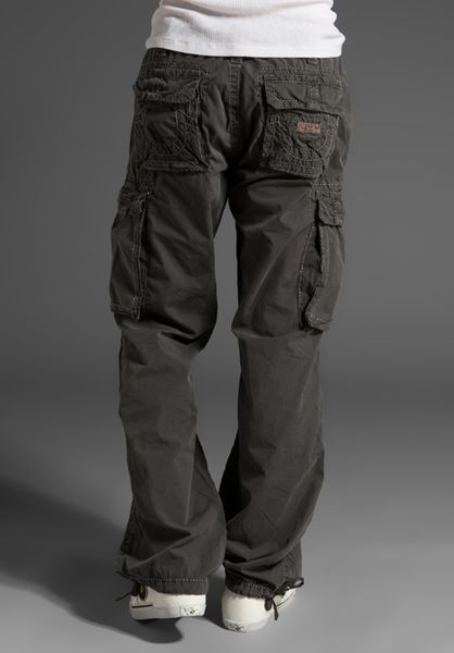 True Religion Anthony Cargo Pant In Gray For Men Charcoal