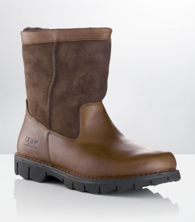 ugg beacon leather and suede boot in brown for lyst