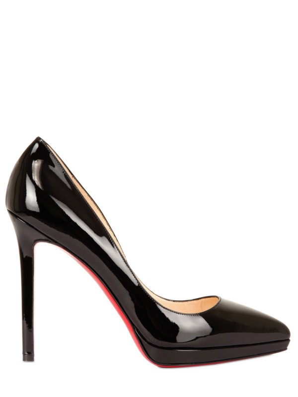 christian louboutin pigalle plato 120 patent leather platform pumps