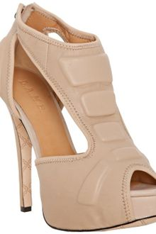 L.a.m.b. Nude Leather Chloe T-strap Platform Sandals - Lyst