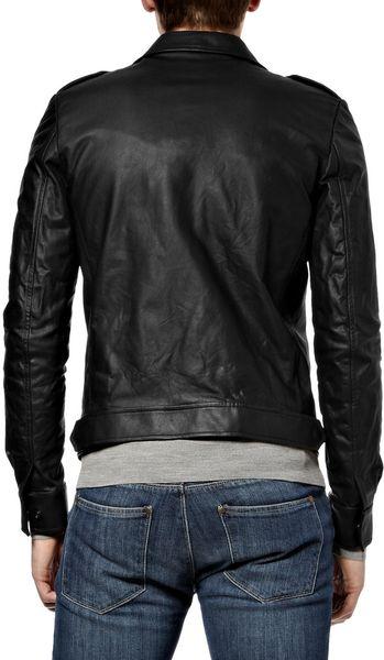 Balmain Leather Flight Jacket in Black for Men | Lyst