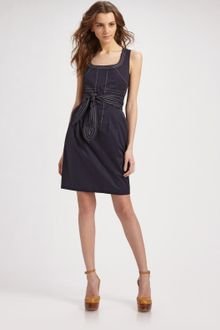 Tory Burch Leena Twill Suiting Dress - Lyst