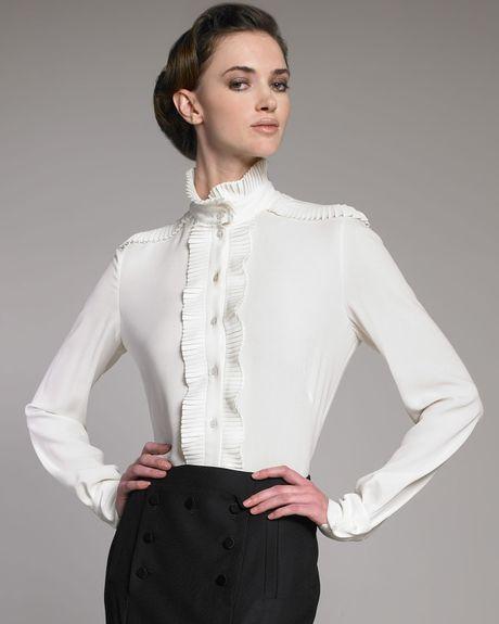 White Blouse Large Collar 47
