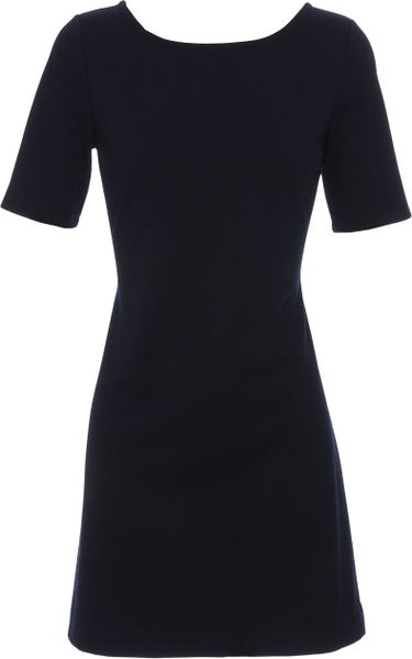 Club Monaco Amy Stretch Jersey Dress in Blue (navy)